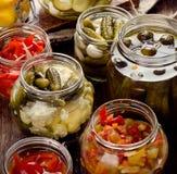 Fermented preserved vegetables Stock Image