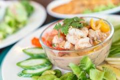 Fermentez la crevette avec le légume dans le plat Nourriture thaïe - friture #6 de Stir photo stock