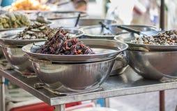 Fermentez le crabe sur la nourriture de rue de Yaowarat, Thaïlande image stock