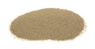 Fermento seco ativo orgânico da parcela pequena fotografia de stock
