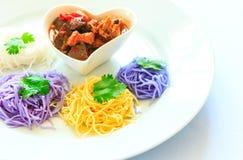 Fermentujący ryżowych klusek północny Tajlandzki styl Zdjęcie Stock