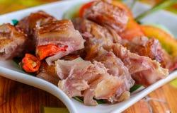 fermentujący wieprzowiny tajlandzki jedzenie zdjęcie royalty free