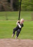 Fermer la fermeture éclair-ligne enfant Photographie stock