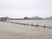 Fermes d'élevage de poissons Photographie stock libre de droits