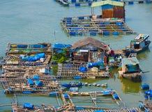 Fermes d'élevage de poissons au Vietnam du sud Image libre de droits