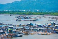Fermes d'élevage de poissons au Vietnam du sud Photos libres de droits
