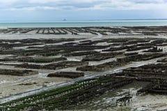 Fermes d'huître dans les Frances images stock