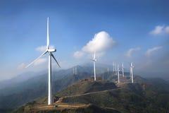 Fermes de vent abandonnées Image stock