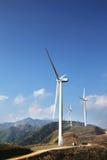 Fermes de vent abandonnées Images stock