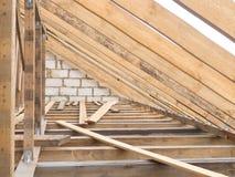 Fermes en bois de toit Photo stock