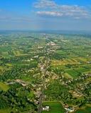 Fermes et champs du comté de Lancaster Images libres de droits