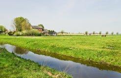 Fermes néerlandaises de wirh de countrylandscape images libres de droits
