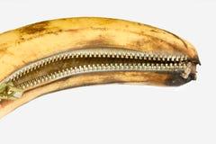 Fermeture éclair de banane Photo libre de droits
