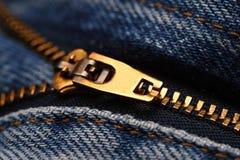 fermeture éclair de jeans de groupe Photos stock