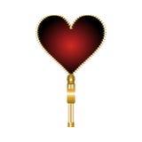 Fermeture éclair en forme de coeur illustration de vecteur