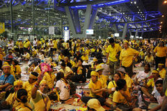 Fermeture d'aéroport de Bangkok Photos libres de droits