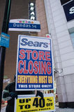 Fermeture de magasin de Sears à Toronto Photo stock