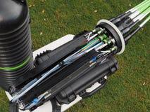 Fermeture de masse à fibres optiques avec le dôme photographie stock