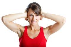 Fermeture des oreilles Image libre de droits