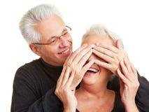 Fermeture des yeux Photo stock