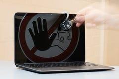 Fermez à clef au carnet Photos libres de droits