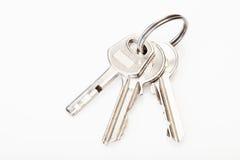 Fermez à clef avec des clés Photo libre de droits