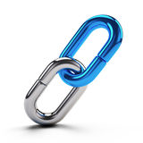 Fermez à clef, concept de connexion - icône de maillon de chaîne d'isolement sur le blanc Image stock