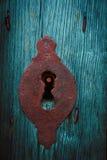 Fermez à clef dans le bleu Image stock