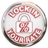 Fermez à clef dans votre hypothèque de Rate Button Percent Interest Loan Photographie stock