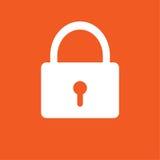 Fermez à clef l'illustration simple de vecteur d'icône Photos libres de droits
