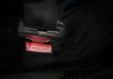 Fermez à clef la ceinture de sécurité de voiture images libres de droits