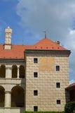 Fermez à clef le fragment le Melnik dans la République Tchèque Photographie stock libre de droits