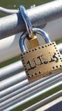 Fermez à clef le pont Photo libre de droits