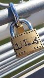 Fermez à clef le pont Images libres de droits