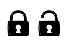 Fermez à clef les icônes. illustration libre de droits