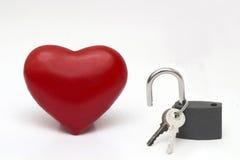 Fermez à clef votre coeur Image stock
