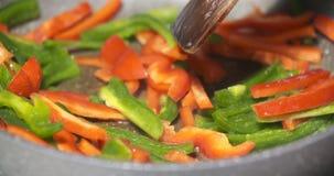 Fermez de l'les légumes colorés délicieux banque de vidéos