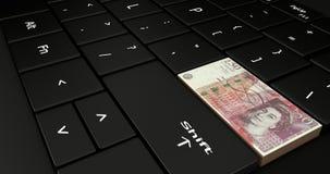 Fermez de la Grande-Bretagne le clavier numérique de 50 livres Image libre de droits