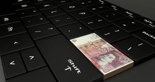 Fermez de la Grande-Bretagne le clavier numérique de 50 livres Photos stock