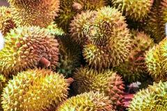 Fermez des plusieurs le fruit de durian photographie stock