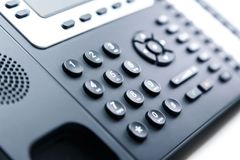 Fermez - le clavier numérique de téléphone image stock
