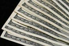 Fermez vers le haut de l'Américain cent billets d'un dollar Image libre de droits