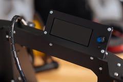 Fermez-vous d'un détail de l'imprimante 3d Image stock