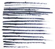 Fermez-vous d'un dessin au crayon d'eye-liner Photo libre de droits