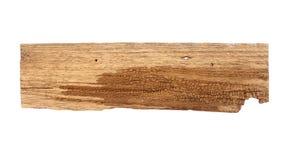 Fermez-vous d'un en bois vide se connectent le fond blanc avec le clippi images stock