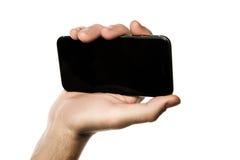 Fermez-vous d'un homme à l'aide du téléphone intelligent mobile Photo libre de droits