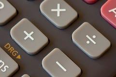 Fermez-vous d'une calculatrice Photographie stock libre de droits