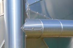 Fermez-vous d'une cuve de stockage de biogaz Photos libres de droits