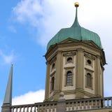 Fermez-vous d'une des tours du townhall d'Augsbourg, Allemagne photo libre de droits