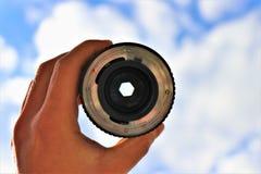 Fermez-vous d'une lentille d'appareil photo num?rique images libres de droits